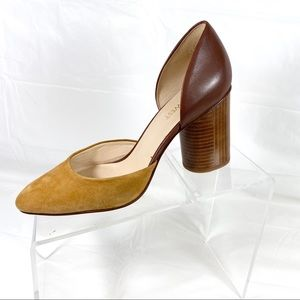 Nine West Charles Pumps Yellow Brown Size 7 M